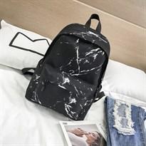 Купить черный мраморный рюкзак в Москве