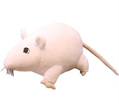 Мягкая игрушка крыса белая 20 см купить в Москве