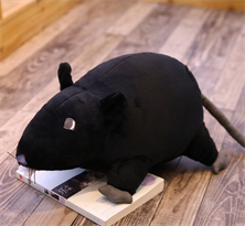 Мягкая игрушка крыса черная 40 см купить в Москве