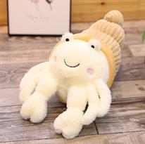 Мягкая игрушка Краб-отшельник белая 35 см купить в Москве