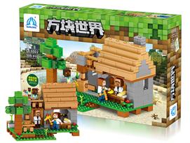 Конструктор Minecraft (Майнкрафт) Мини деревня 309 деталей купить в Москве