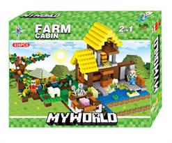 Конструктор Minecraft My World 2 в 1 Деревня (Майнкрафт) 636 деталей купить в Москве