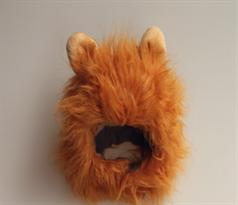 Парик с ушками для котов Король Лев (Цвет Рыжий)