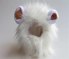 Парик с ушками для котов Король Лев (Цвет Белый)