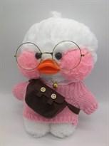 Мягкая игрушка Цыпленок Каваи в розовом свитере с бантиком купить в Москве