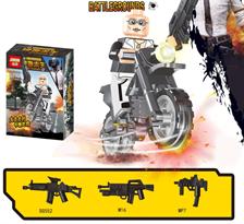 Минифигурка героя ПУБГ на байке (PUBG) совместима с Лего купить