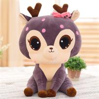 Мягкая игрушка Новогодний олень фиолетового цвета 55 см купить в Москве