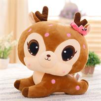 Мягкая игрушка Новогодний олень коричневого цвета 55 см купить в Москве