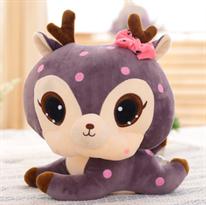 Мягкая игрушка Новогодний олень фиолетового цвета 45 см купить в Москве