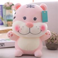 Розовая мягкая игрушка Тигр 25 см купить в Москве