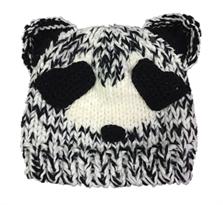 Вязаная шапка с ушками Панда купить в Москве