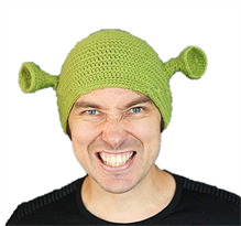 Вязаная шапка с ушами Шрек купить в Москве