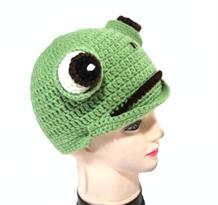 Вязаная шапка Лягушка купить в Москве