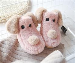 Теплые тапочки собаки розовые купить в Москве
