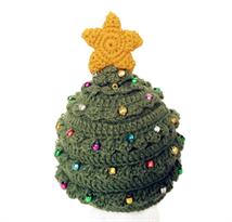 Вязаная шапка Новогодняя елка купить в Москве