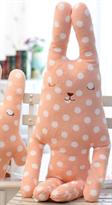 Мягкая игрушка подушка CRAFTHOLIC Заец в горошек 98 см купить