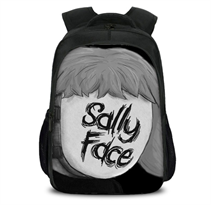 Рюкзак Салли Кромсали (Sally Face) черно-белый купить в Москве