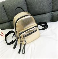 Мини рюкзак золотистого цвета купить в Москве