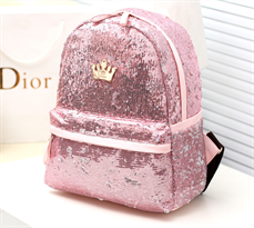 Розовый рюкзак в пайетки купить в Москве