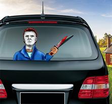 Наклейка на машину Майкл Майерс из фильма Хэллоуин купить