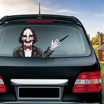 Наклейка на машину Кукла Билли из фильма Пила купить в Москве