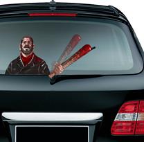 Наклейка на машину Ниган с битой Люсиль Ходячие мертвецы купить в Москве