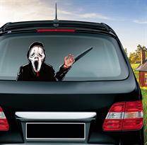 Наклейка на машину Гоуст Фейс с ножом из фильма Крик (Scream) купить в Москве