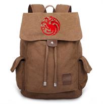 Коричневый рюкзак с гербом Таргариенов Игра престолов (Game of Thrones) купить в Москве