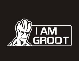 Наклейка на машину Грут I am Groot купить в Москве