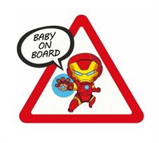 Наклейка малыш Железный Человек Baby on Board купить в Москве