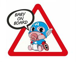 Наклейка малыш Капитан Америка Baby on Board купить в Москве