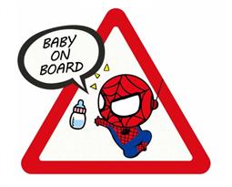 Наклейка малыш Человек-Паук Baby on Board купить в Москве
