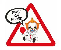 Наклейка малыш Пеннивайз Baby on Board купить в Москве