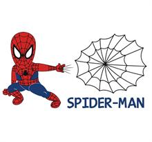 Интерьерная наклейка Человек-Паук с паутиной (Spider-Man) купить в Москве