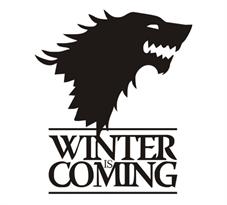 Интерьерная наклейка Герб Старков Игра Престолов (Game of Thrones) купить в Москве