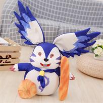 Мягкая игрушка синий заец из аниме 40 см купить в Москве