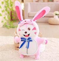 Мягкая игрушка розовый заец из аниме 60 см купить в Москве