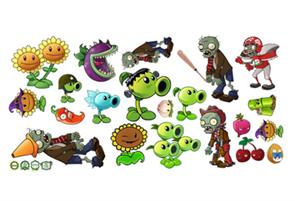 Интерьерные наклейки Зомби против растений (Plants vs Zombies) купить в Москве