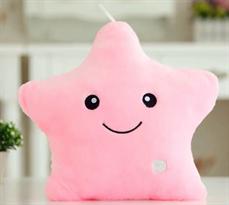 Мягкая игрушка подушка розовая звезда (светится) купить в Москве