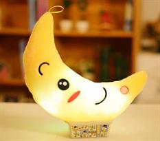 Мягкая игрушка подушка желтый полумесяц (светится) купить