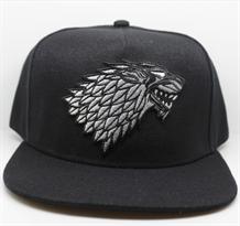Черная кепка с гербом дома Старков из Игры престолов (Game of Thrones) купить в Москве