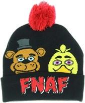 Шапка ФНАФ (BioWorld Five Nights Faces FNAF Cuff Pom Beanie Fleece Hat) купить в Москве
