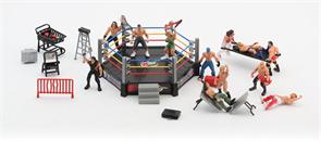 Набор мини-фигурок WWE с шестиугольным рингом купить в Москве