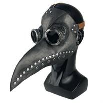 Маска Чумного Доктора (черная с серебристыми заклепками) купить в Москве