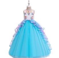Голубое пышное платье с единорогом купить в Москве