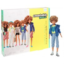 Кукла Creatable World Deluxe Character Kit Customizable Doll (кудрявые волосы) купить