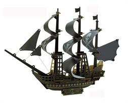 Купить 3D пазл корабль Черная жемчужина Пиратов Карибского моря (Pirates of the Caribbean)