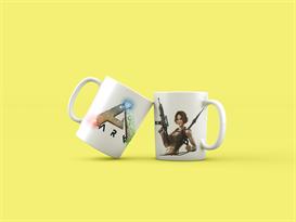 Кружка с героиней игры и лого ARK: Survival Evolved купить