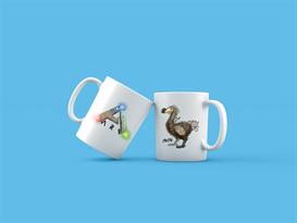 Кружка с Додо и лого ARK: Survival Evolved купить