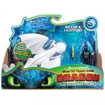 Подвижная игрушка Дневная Фурия и Иккинг (Lightfury and Hiccup, Dragon)